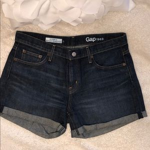 GAP Dark Wash Jean Shorts